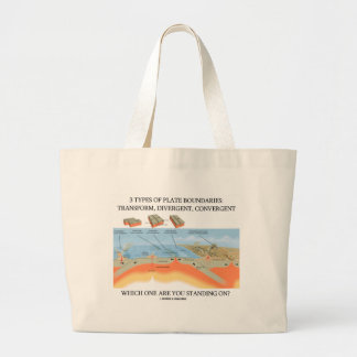 3 Types Of Plate Boundaries - Which Standing On? Jumbo Tote Bag