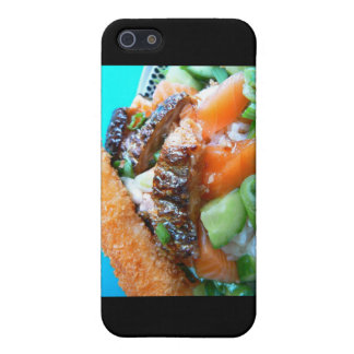 3 Types Salmon Charschi Sushi Gifts Cards Cover For iPhone SE/5/5s