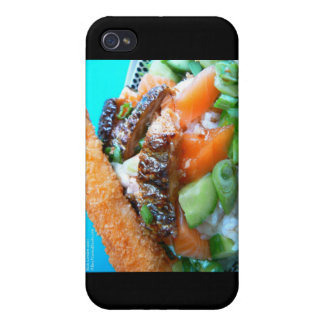 3 Types Salmon Charschi Sushi Gifts Cards iPhone 4/4S Covers