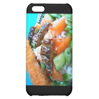 3 Types Salmon Charschi Sushi Gifts Cards Case For iPhone 5C