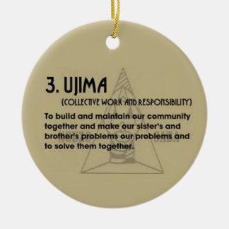 3.  UJIMA Kwanzaa Holiday Ornament