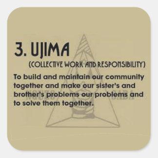 3. UJIMA Kwanzaa Holiday Stickers