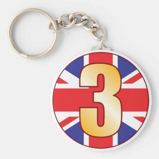 3 UK Gold Keychain