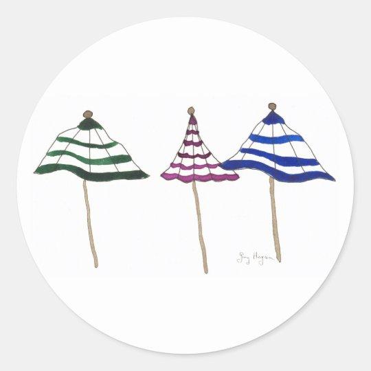 3 Umbrellas Sticker