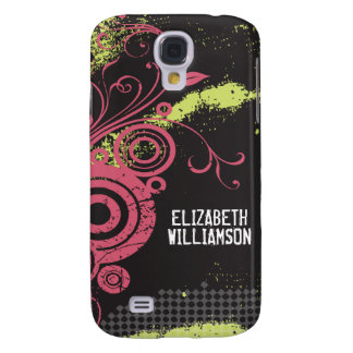 3 Velvet Grunge Flourish (fuchsia) Samsung S4 Case