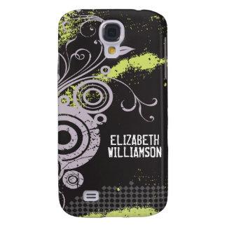 3 Velvet Grunge Flourish (lilac) Samsung Galaxy S4 Case