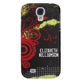 3 Velvet Grunge Flourish (red) Galaxy S4 Cover