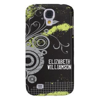 3 Velvet Grunge Flourish (slate) Galaxy S4 Case