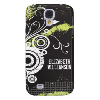 3 Velvet Grunge Flourish (white) Samsung Galaxy S4 Cover