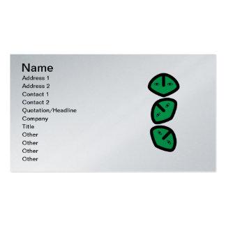 3 Vertical Alien Heads Faces Business Card