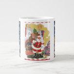 3 vintage Santas a partir de la noche de Twas ante Tazas Extra Grande