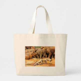 3 warthogs large tote bag