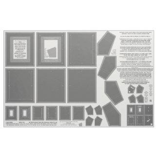 3 washable fabric NO SEW gray photo frame crafts
