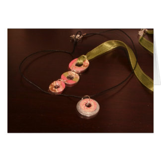 3 Washer Necklace and Mini Necklace Greeting Card