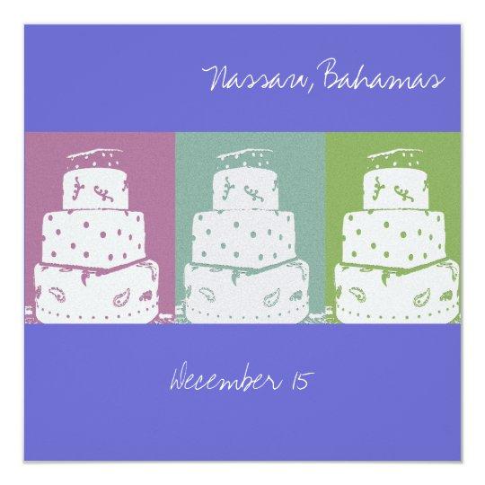 3 Wedding Cakes Card
