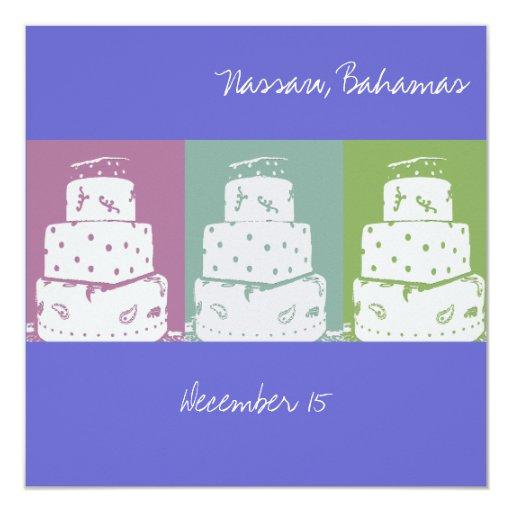 3 Wedding Cakes Invites