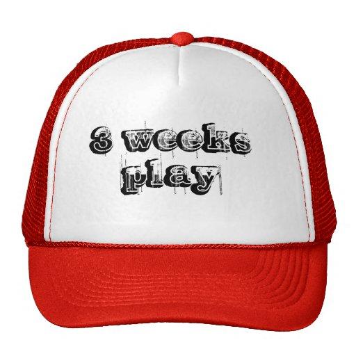 3 weeks play trucker hat