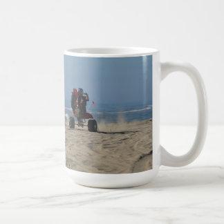3 Wheelers riding Wheelies at the Beach! Coffee Mug