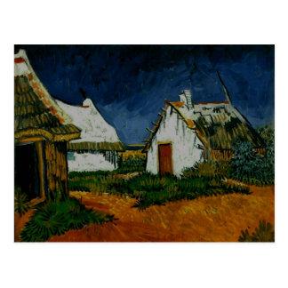 3 White Cottages Saintes-Maries, Vincent Van Gogh Postcard