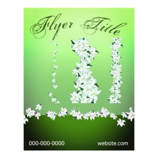 3 White Lilies Trim Event Flyer