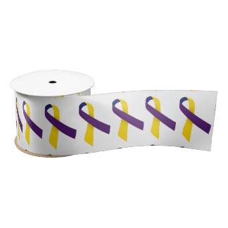 "3"" Wide Satin Bladder Cancer Awareness Ribbon"