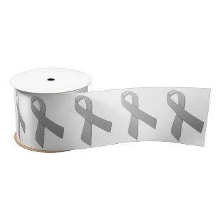 "3"" Wide Satin Brain Cancer Awareness Ribbon Blank Ribbon"