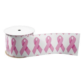 "3"" Wide Satin Breast Cancer Awareness Ribbon"