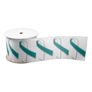 "3"" Wide Satin Cervical Cancer Awareness Ribbon Satin Ribbon"