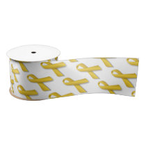 "3"" Wide Satin Childhood Cancer Awareness Ribbon"