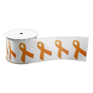 "3"" Wide Satin Kidney Cancer Awareness Ribbon Blank Ribbon"