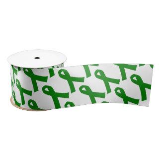 "3"" Wide Satin Liver Cancer Awareness Ribbon Blank Ribbon"