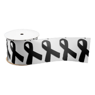 "3"" Wide Satin Melanoma Cancer Awareness Ribbon"