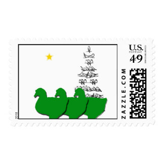 3 Wise Geese Christmas Postage Stamp