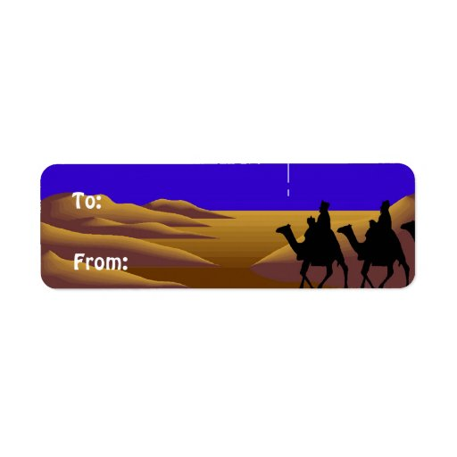 3 Wise Men Christmas Labels