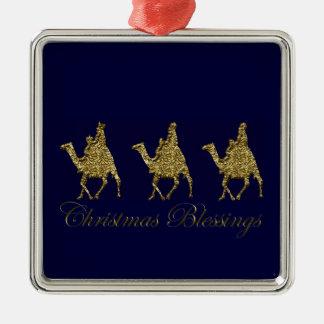 3 Wise Men in Bethlehem Christmas Ornament