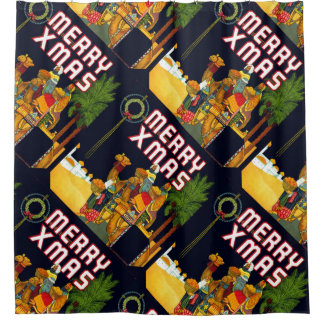 3 Wise Men Merry Xmas Christmas Shower Curtain