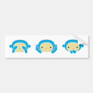 3 Wise Monkeys Bumper Sticker