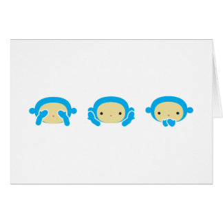 3 Wise Monkeys Card