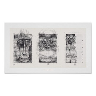 3 Wise Monkeys Chinese New Year Zodiac Poster