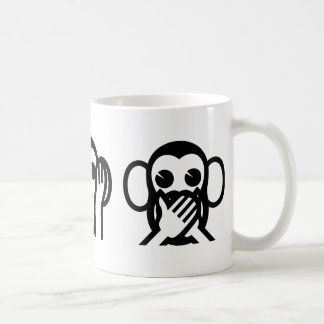 3 Wise Monkeys Emoji Coffee Mug