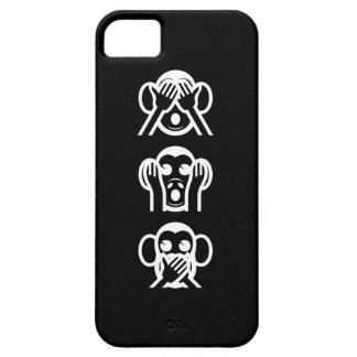 3 Wise Monkeys Emoji iPhone SE/5/5s Case