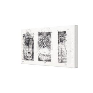 3 Wise Monkeys for Monkey Year 2016 Canvas