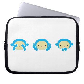 3 Wise Monkeys Computer Sleeves