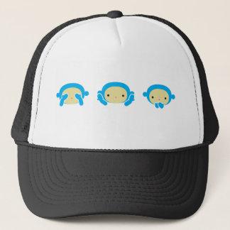 3 Wise Monkeys Trucker Hat