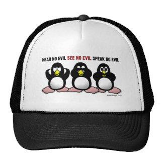 3 Wise Penguins Mesh Hat