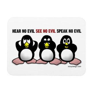 3 Wise Penguins Magnet