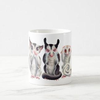 3 wise sugar gliders mug