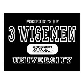 3 Wiseman University Dark Postcard