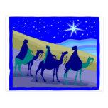3 Wisemen en ilustraciones del cristiano de los ca Postal