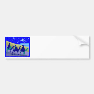 3 Wisemen on camels Christian artwork Bumper Sticker